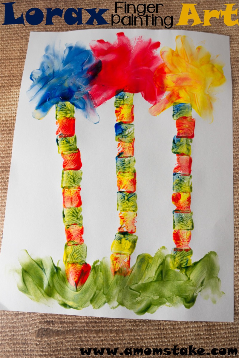 Lorax Finger Painting Art