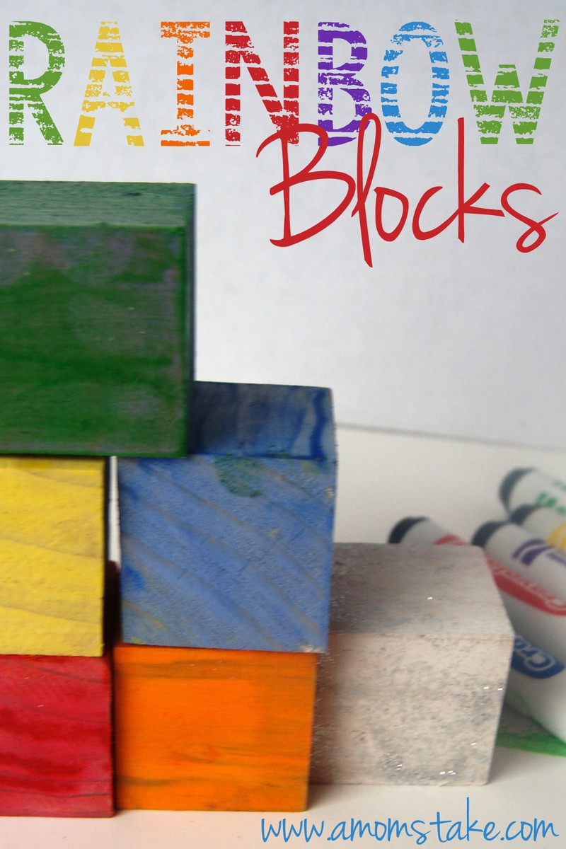 DIY Rainbow Blocks