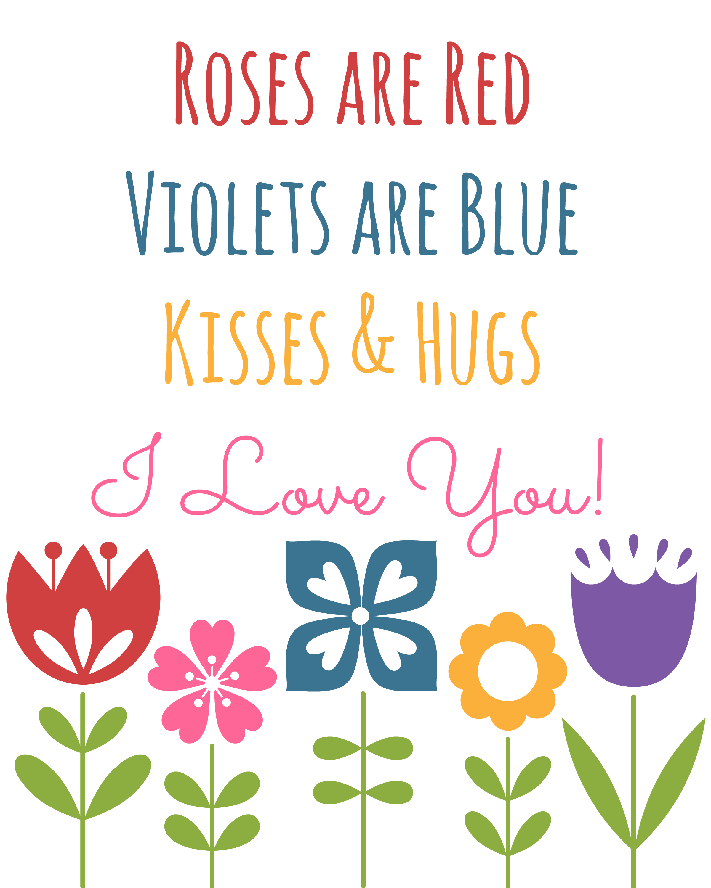 Roses are Red Valentine's Day Printable Art