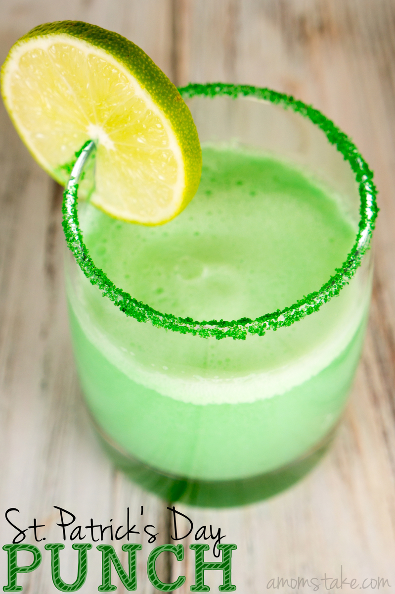 Fun, festive and easy - this St Patrick's Day punch is the perfect hue of green for the holidays! It's a non-alcoholic, kid-friendly drink the whole family will enjoy.