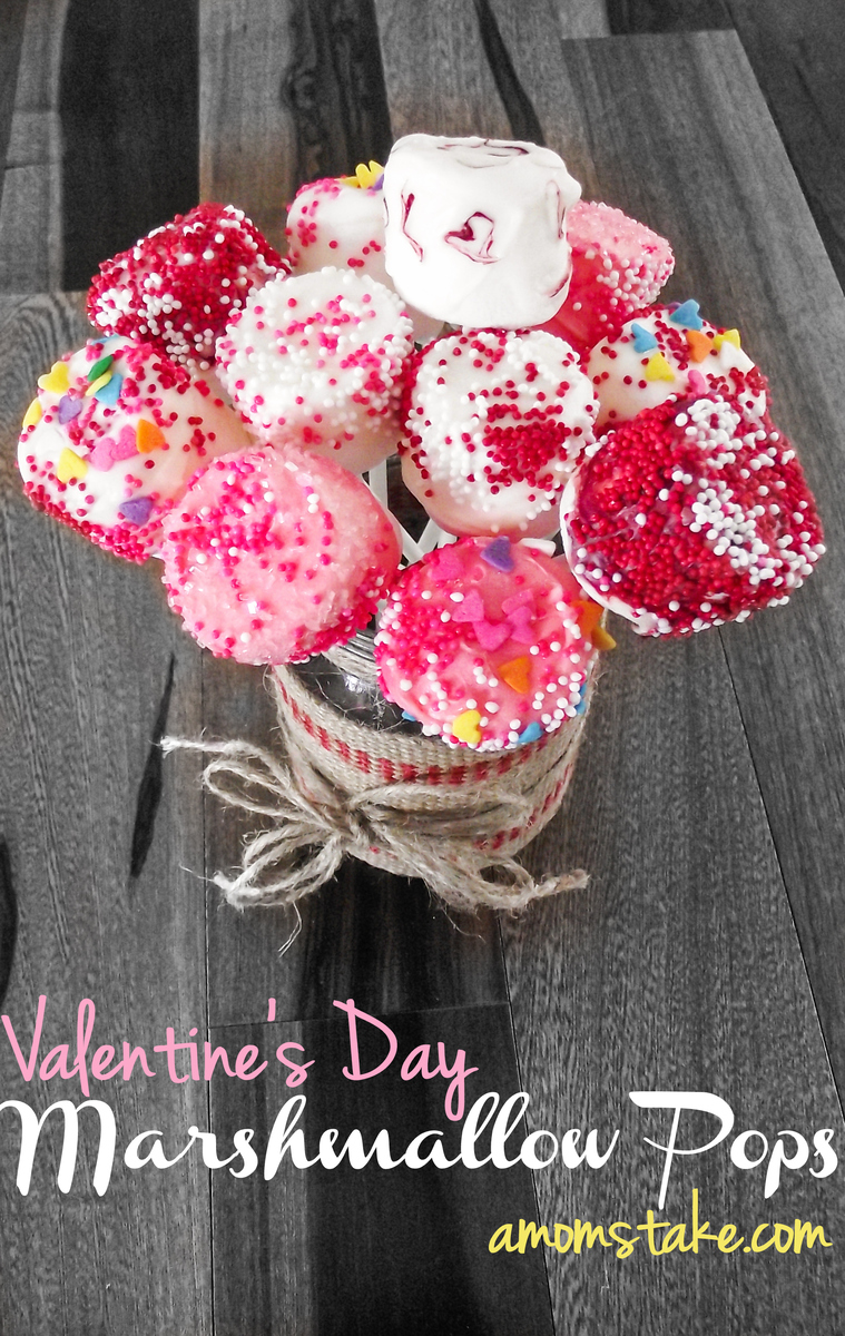 Valentines Day Marshmallow Pops