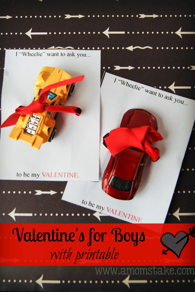 Wheelie Valentine for Boys