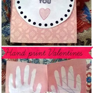 Hand Print Valentines + Printable