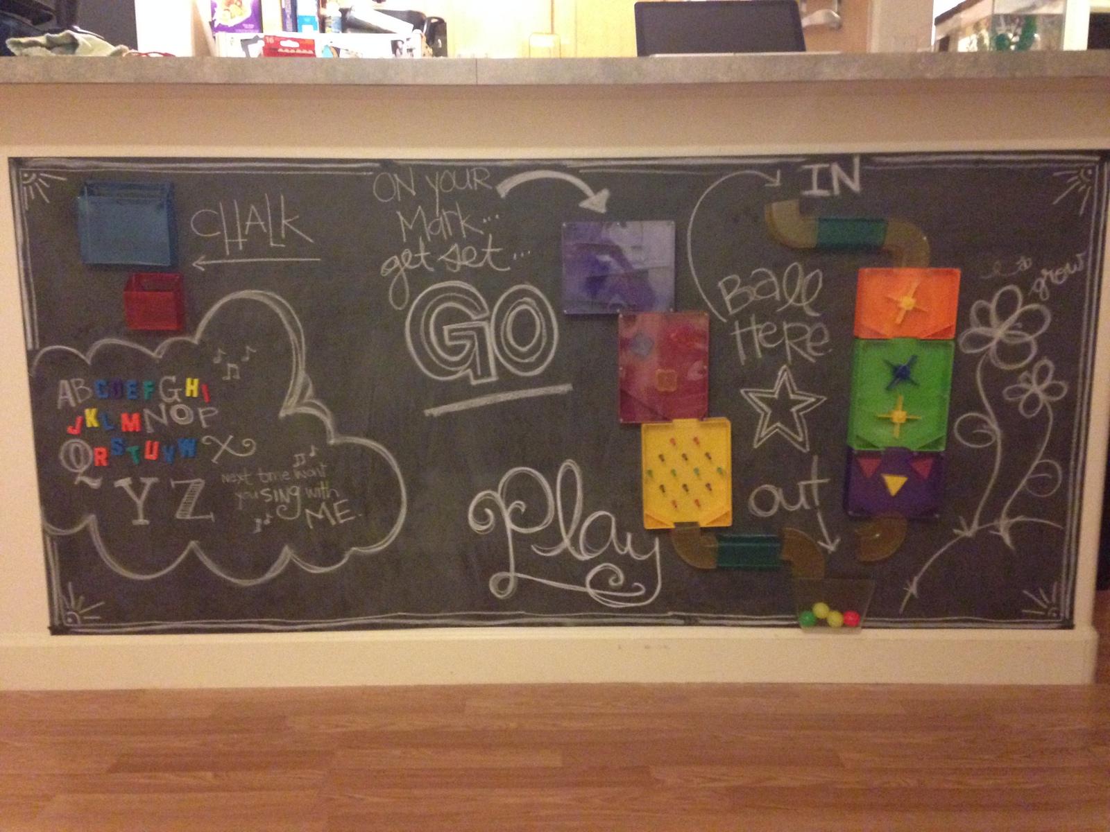 Chalkboard & Magnet Board DIY
