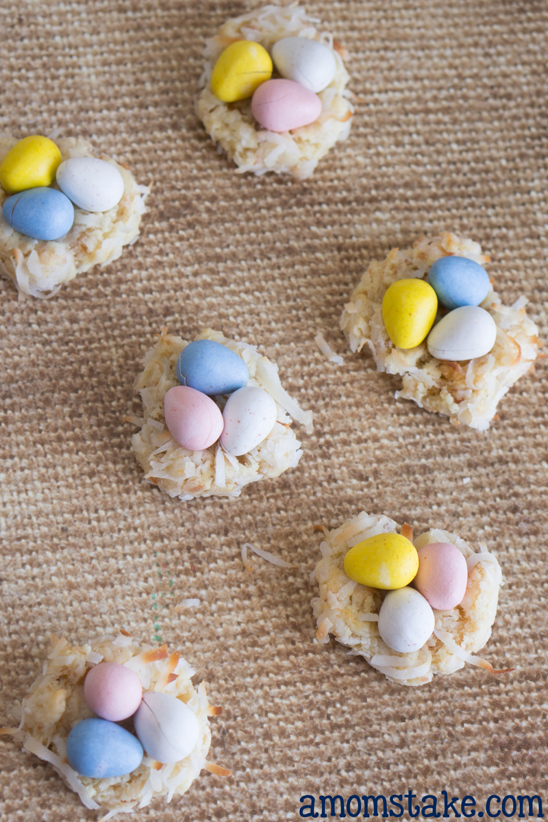 Birds Nest Macaroon Cookies