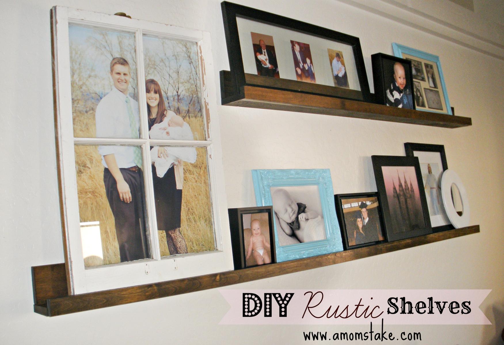 Easy DIY Rustic Shelves