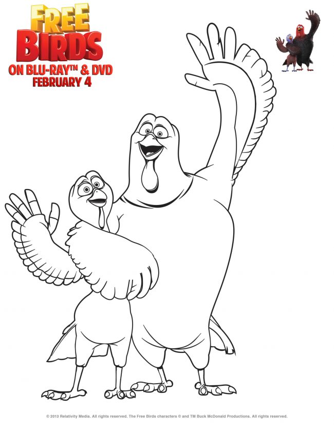 Free Birds Coloring Page