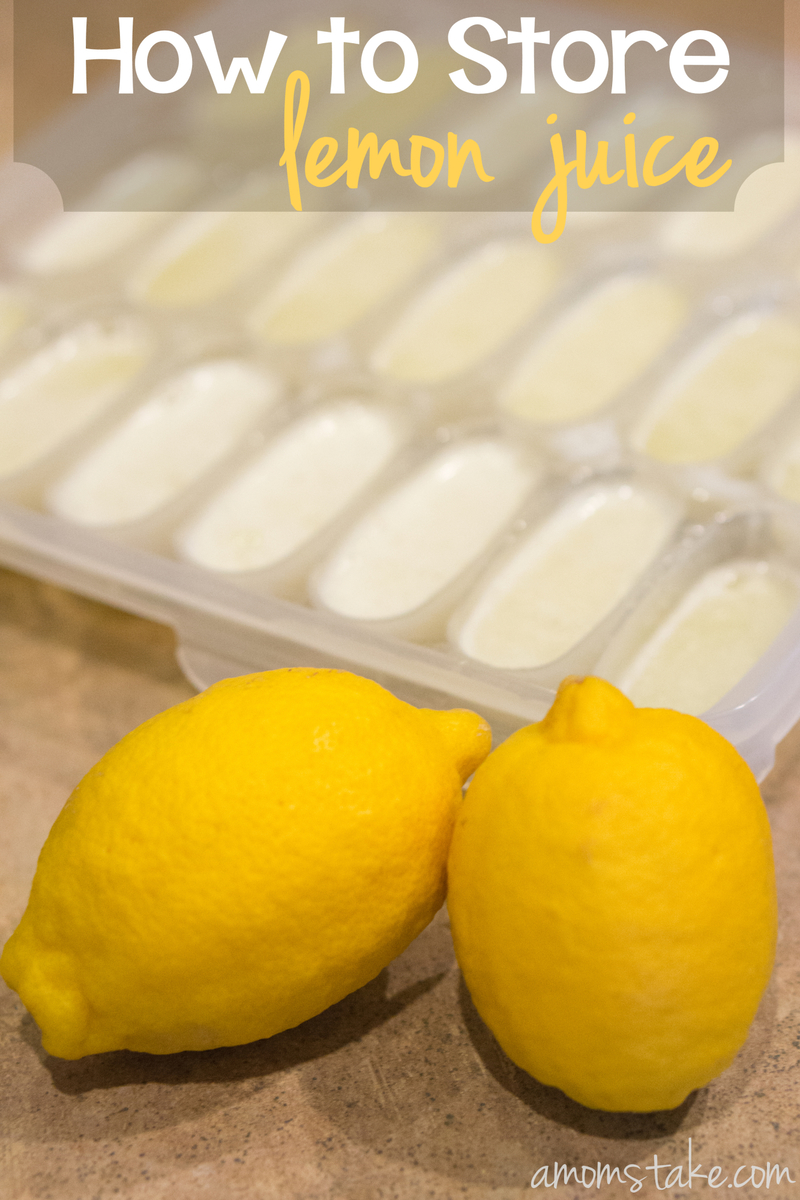 How to Store Lemon Juice