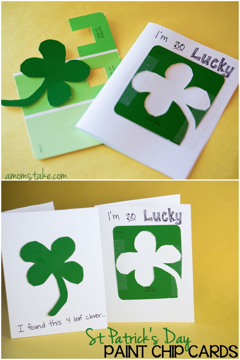 Lucky Paint Chip Cards