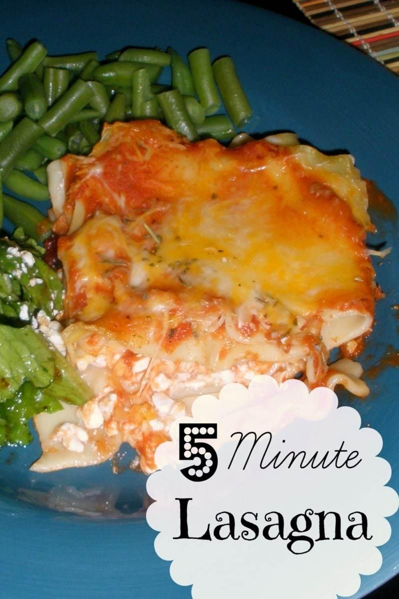 5 minute lasagna recipe