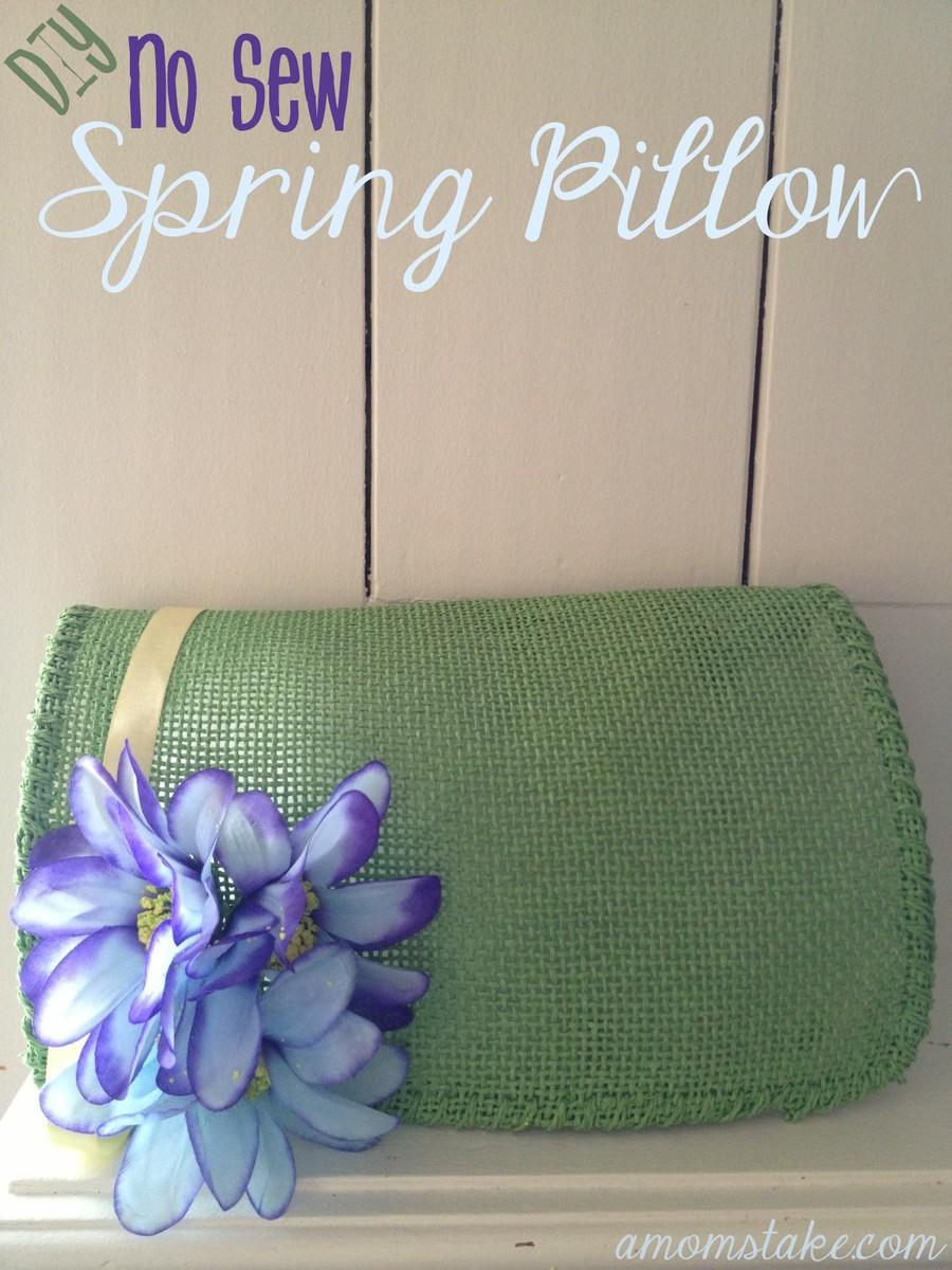 DIY No Sew Spring Pillow