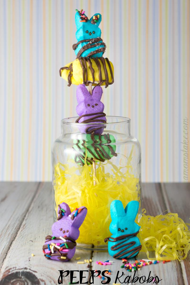 Easter Peeps Kabobs