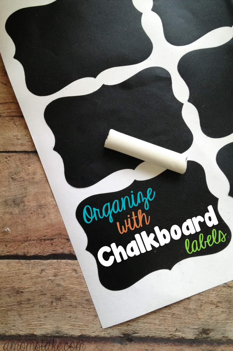 Organize with Chalkboard Labels