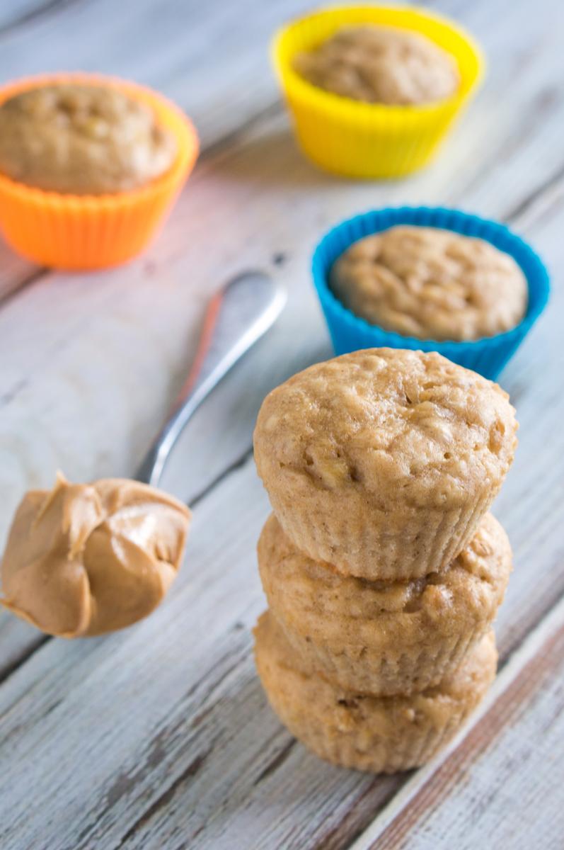 Weight Watchers Peanut Butter Banana Muffins