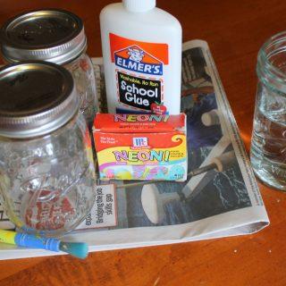 DIY Watercolor Mason Jars