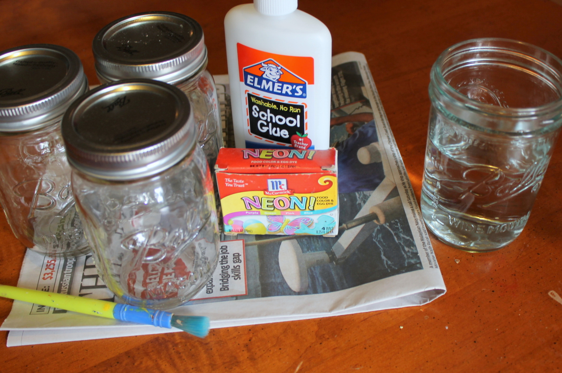 watercolor Jar Supplies