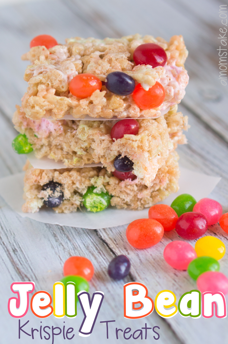 Jelly Bean Rice Krispie Treats
