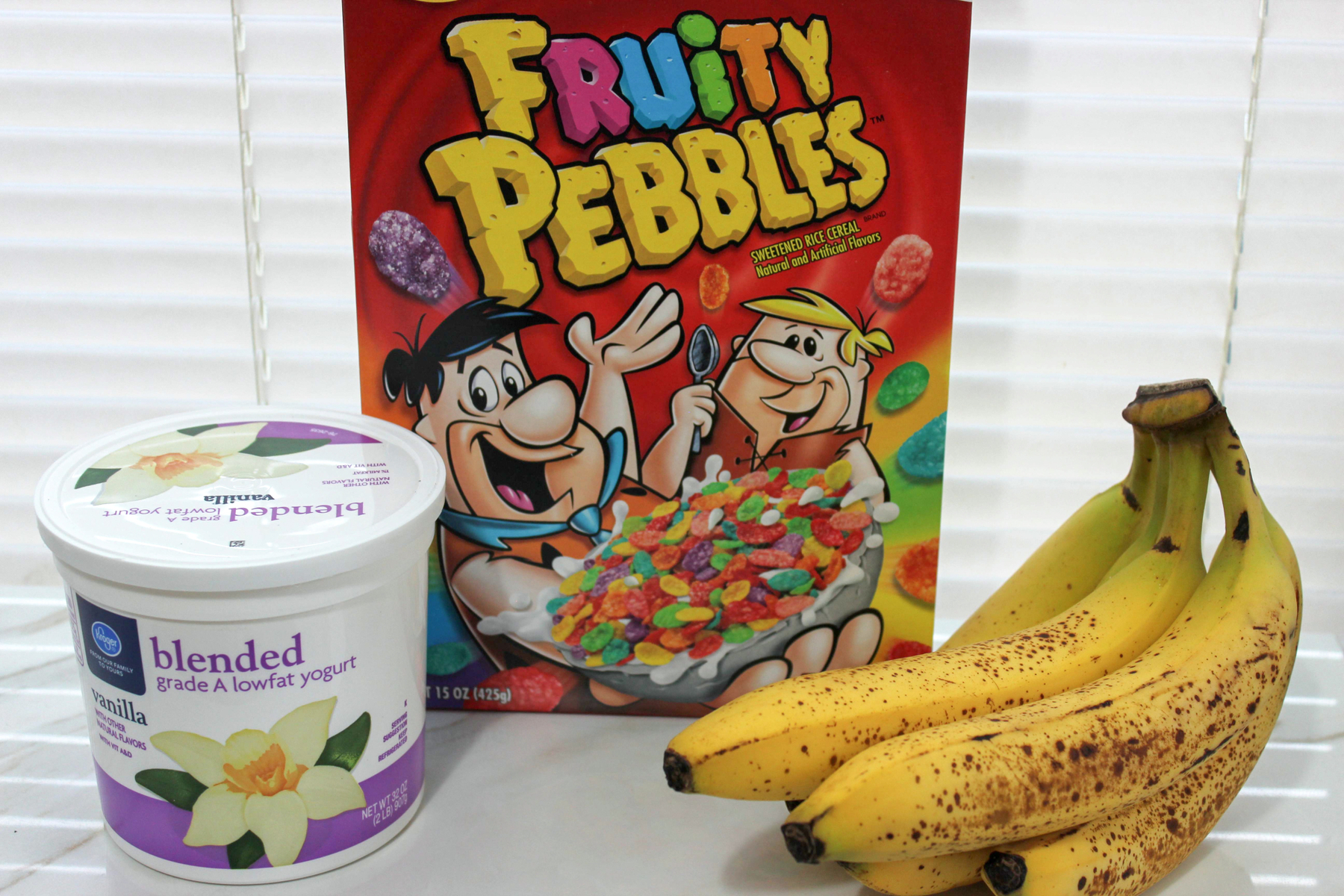 Fruity Pebbles Breakfast Parfait ingredients