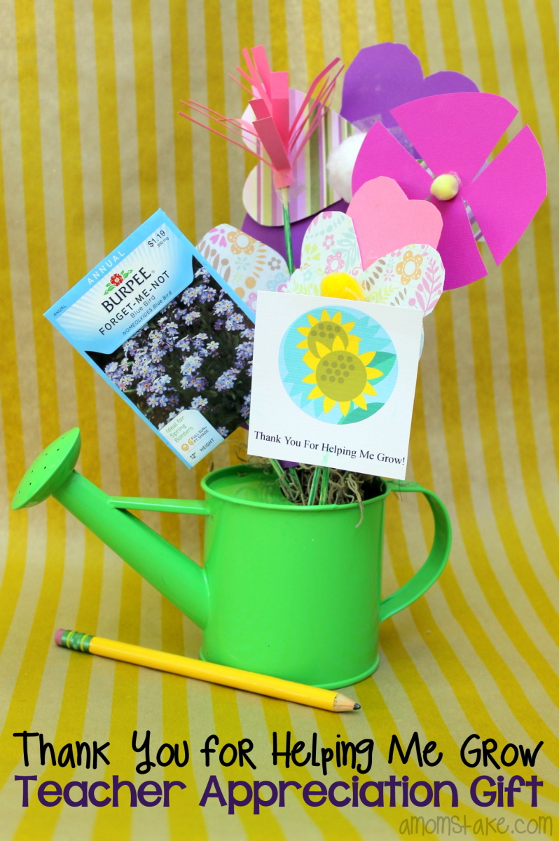 Helping Me Grow - Teacher Appreciation Gift