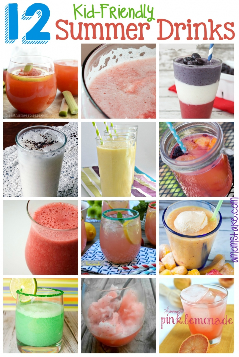 12 Kid Friendly Summer Drinks