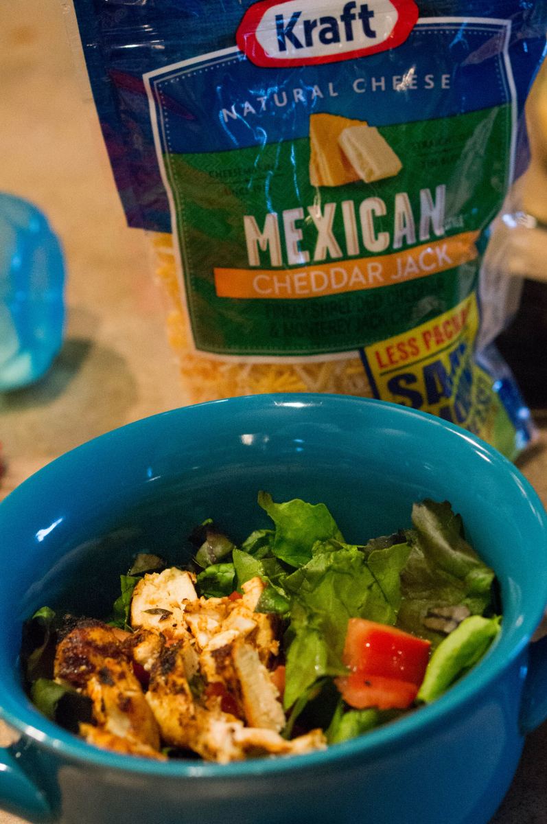 Southwest Ceasar Salad with Kraft