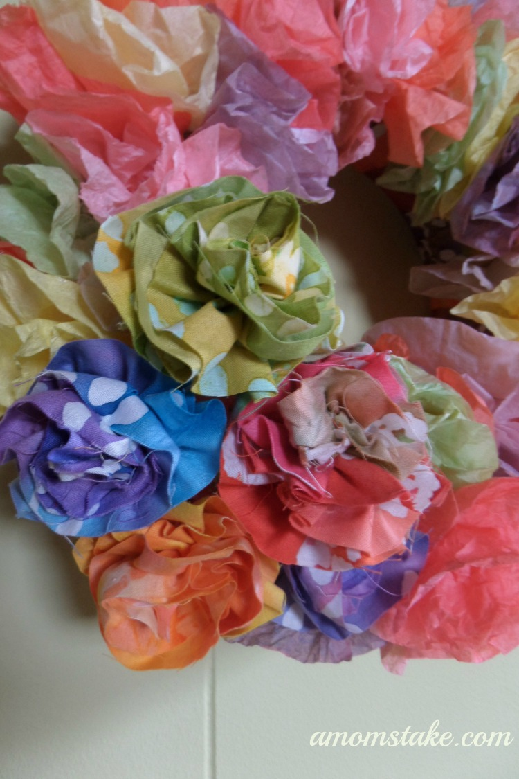Coffee Filter Crafts - Summer Wreath
