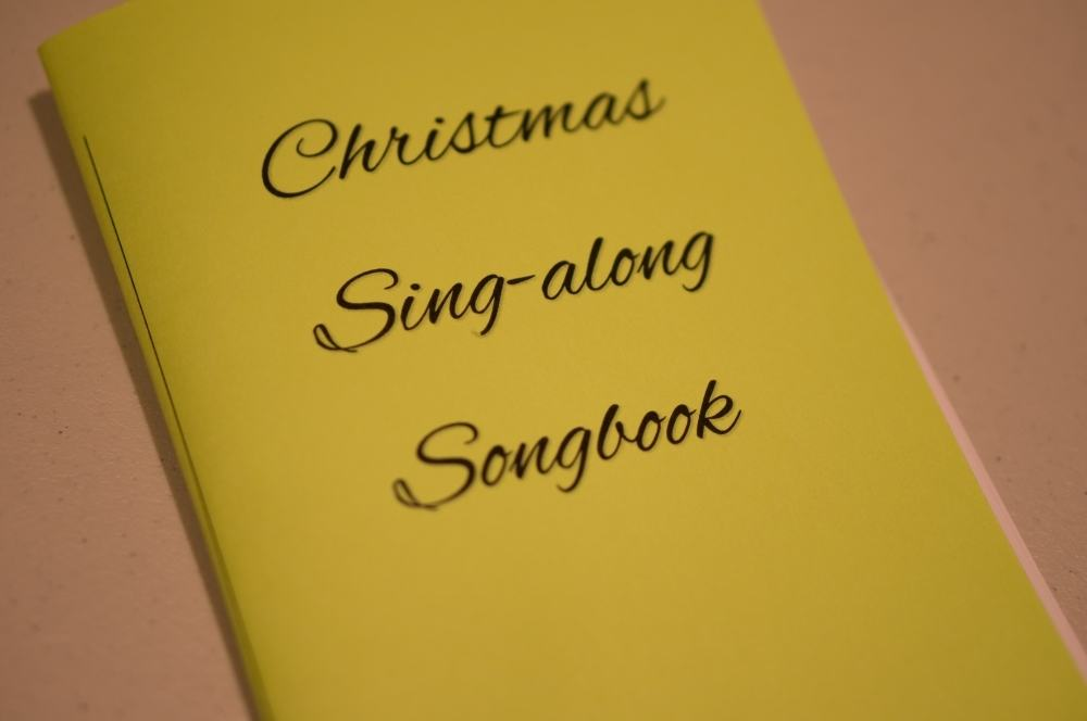 Delicate image within christmas carol songbook printable