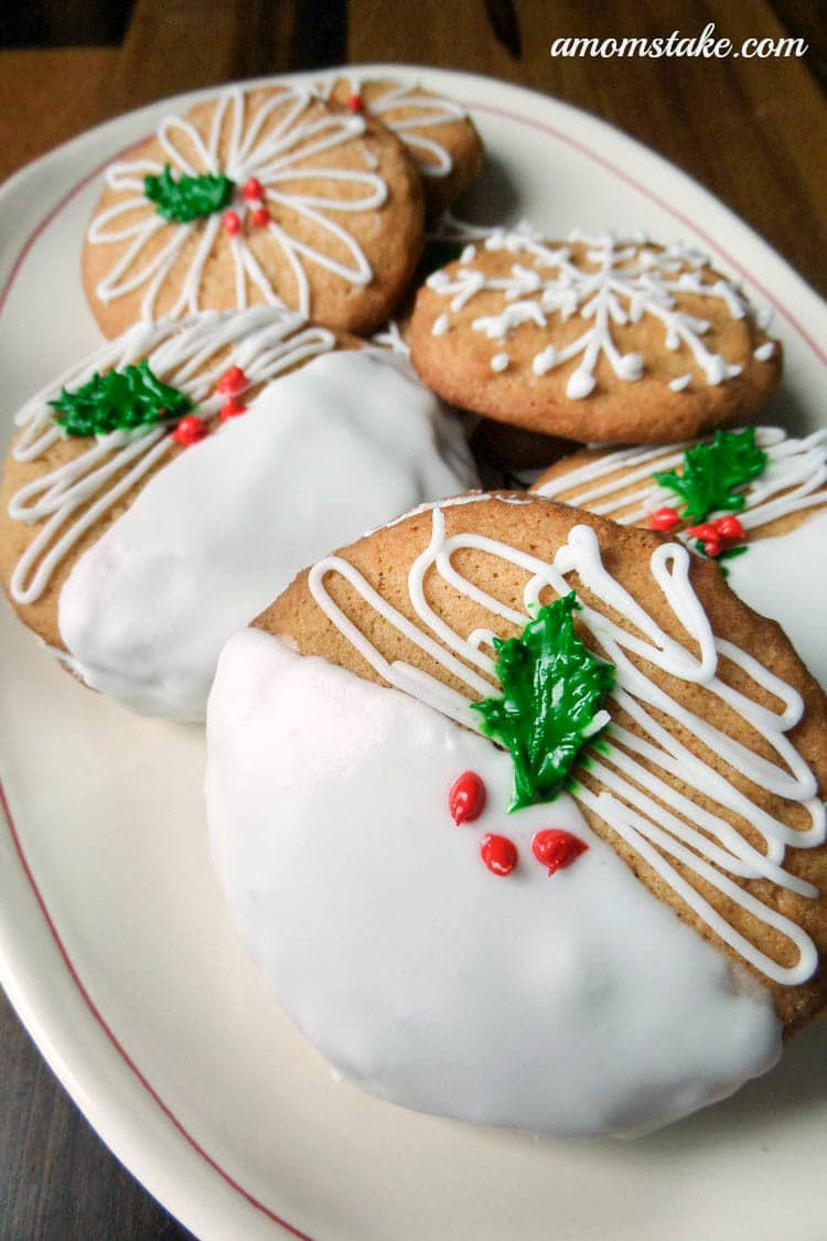 Christmas Cookies - Frosted Ginger Cookie