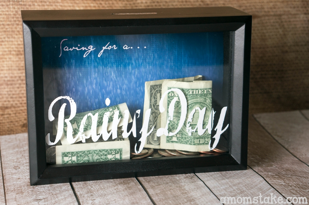 Diy Shadow Box Bank Tutorial A Moms Take