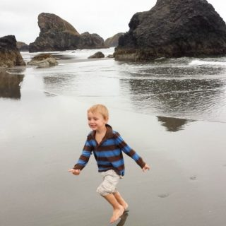 Playing at the Beach on the Oregon Coast!