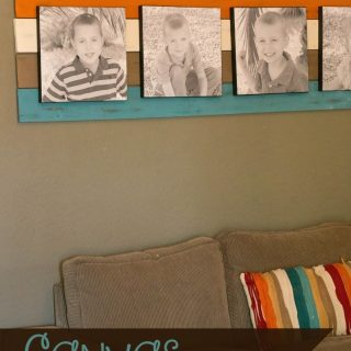 DIY Canvas Wall Art Focal Point