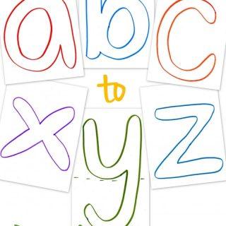 Lowercase ABC Templates – Free Printable!