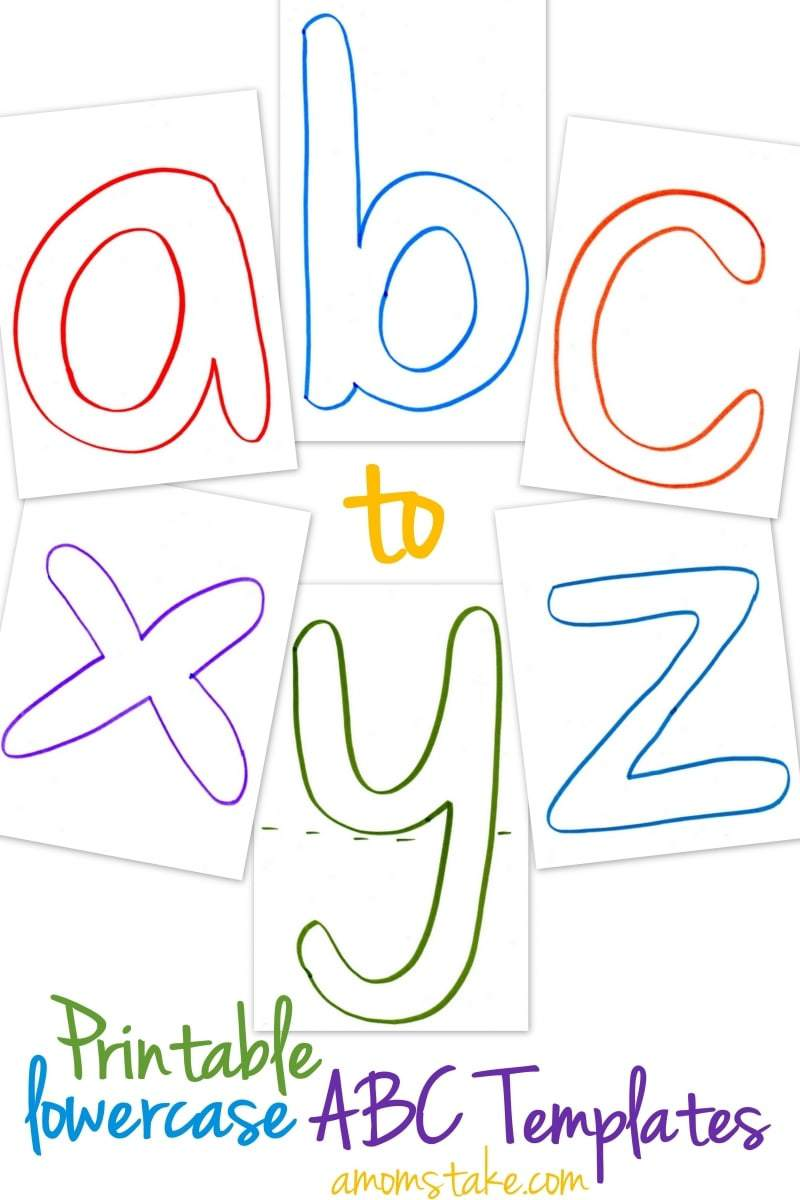 lowercase printable abc templates