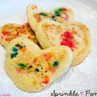 How to Make Heart Shaped Sprinkle Pancakes