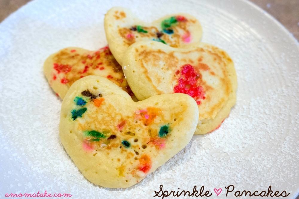 How to make Sprinkle Heart Pancakes