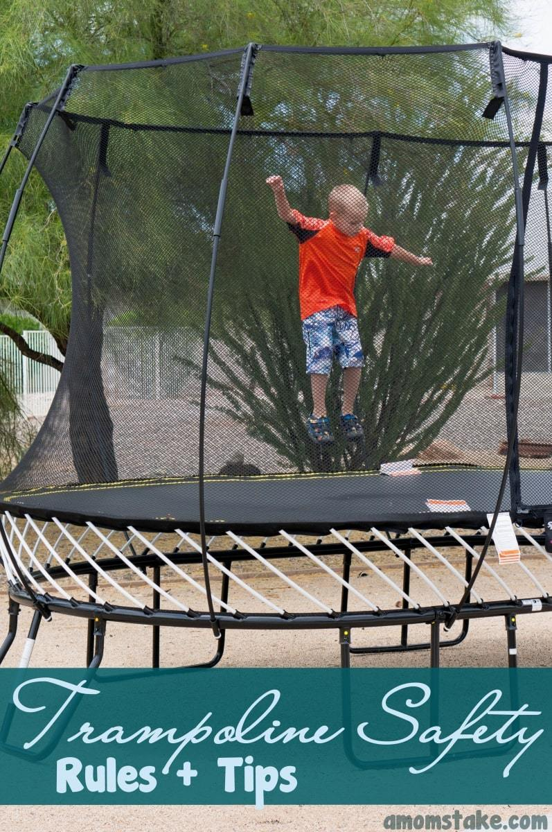 10 Essential Safe Trampoline Rules - A Mom's Take