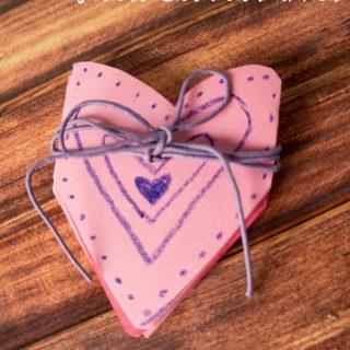 Easy Valentine Accordion Hearts Card