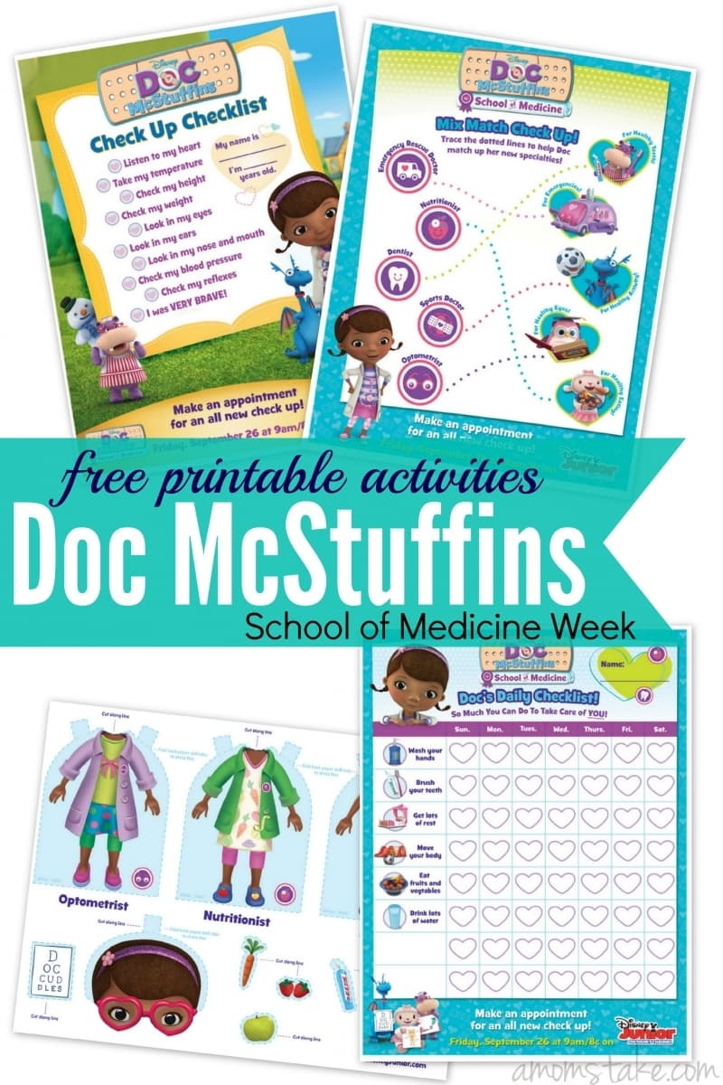 Doc McStuffins School Of Medicine Week Printable