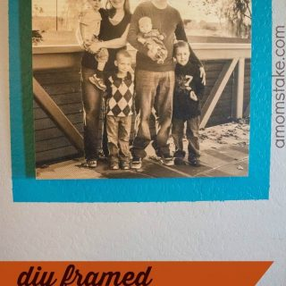 DIY Framed Family Portrait Focal Point