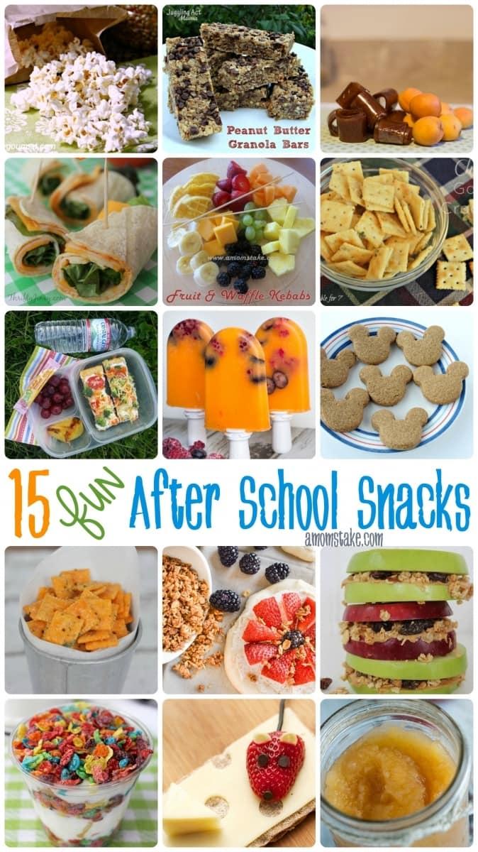 Fun After school snacks ideas