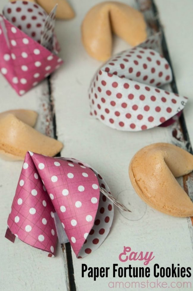 Easy Paper Fortune Cookies