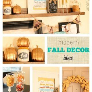Modern Fall Decor Ideas + Free Printable