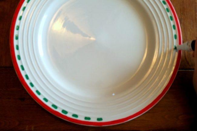 Homemade Santa's Cookie Plate