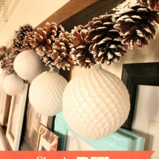 Holiday Decorating on a Dime + DIY Garland