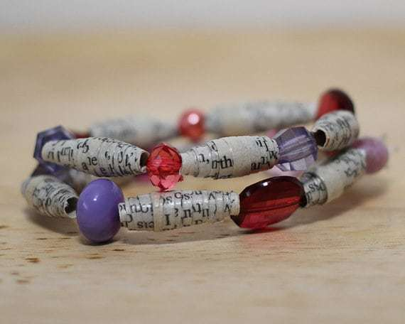 Recycled Book Jewelry