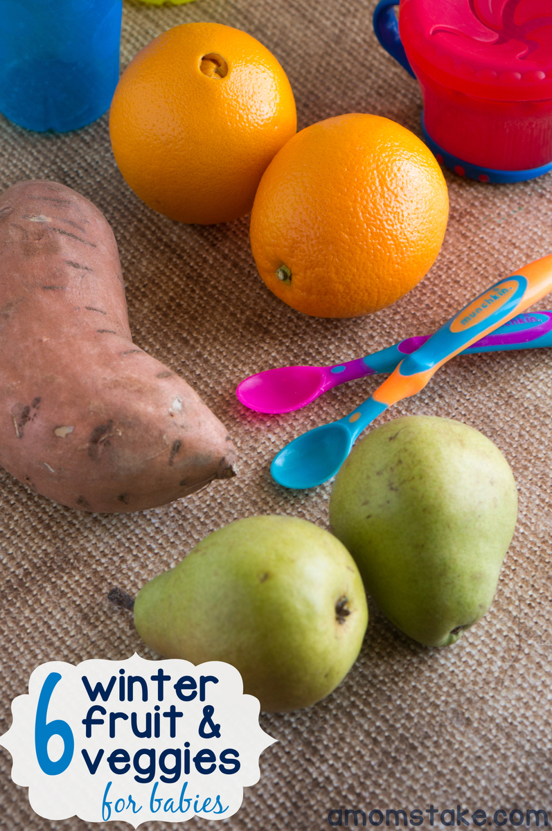 Winter fruit & vegetables for Baby Food