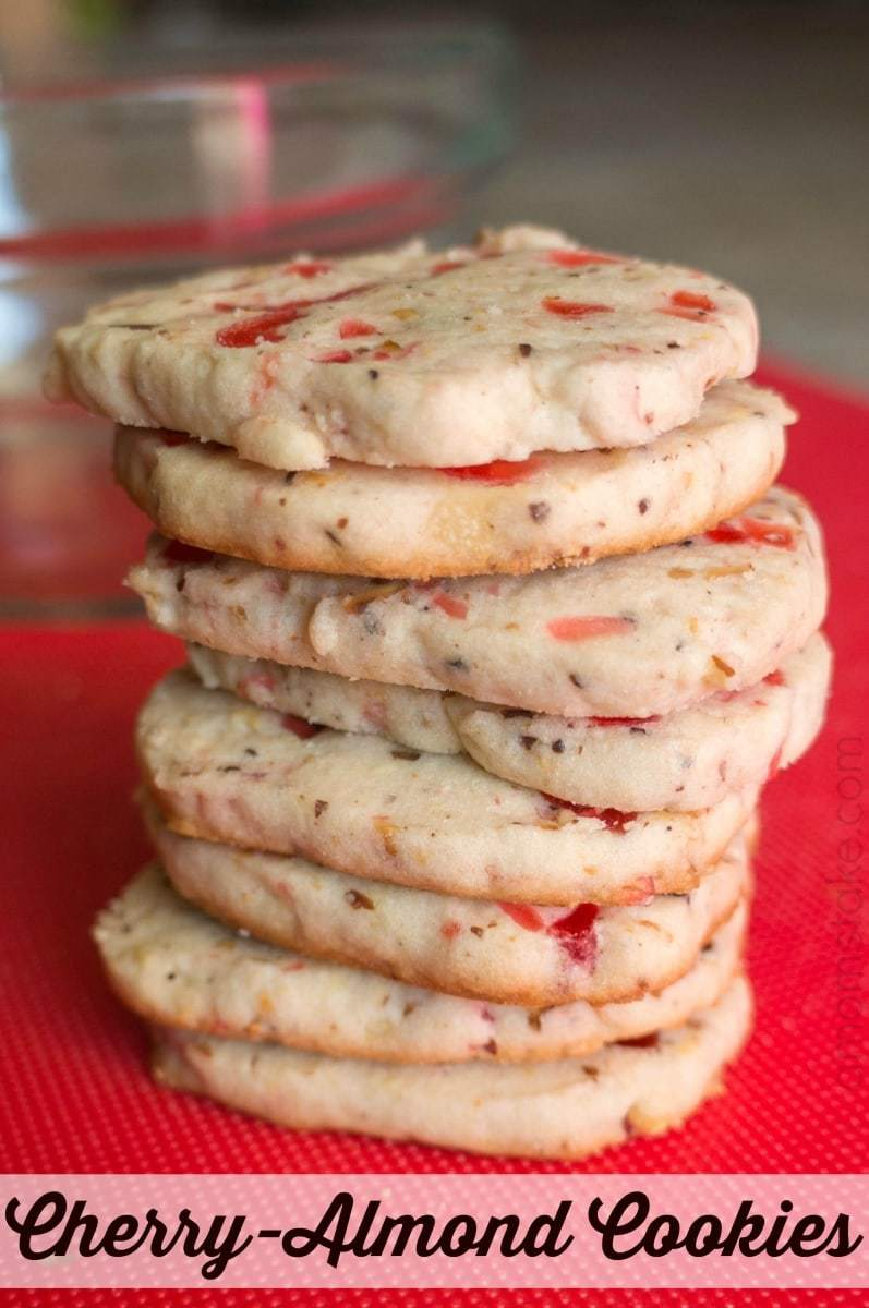 Cherry Almond Refrigerator Cookies