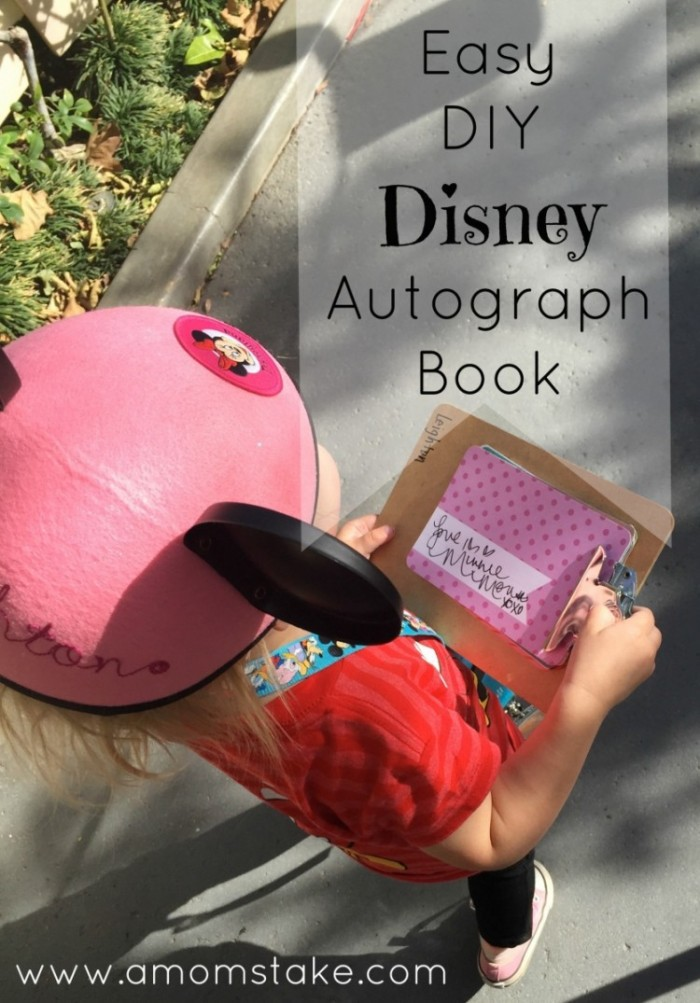 Try this unique approach for a DIY and super easy Disney Autograph book that's super kid friendly and on a budget!! Capture signatures and pictures together in this unique way. #disney #autographbook #familytravel #disneyworld #diy