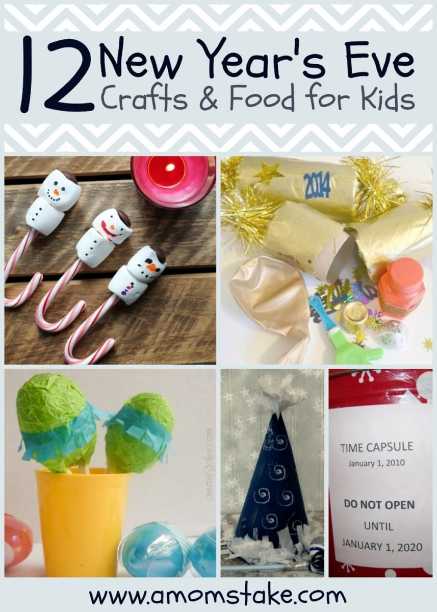 new years eve crafts food kids