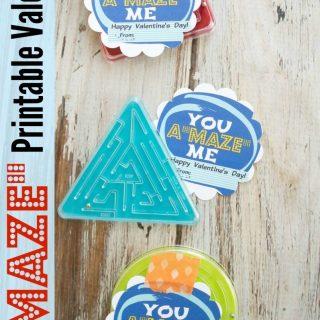 """A """"MAZE"""" Valentine Card Printable"""